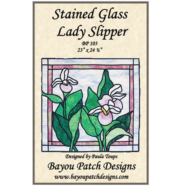Stained Glass Lady Slipper Pattern By Bayou Patch Designs