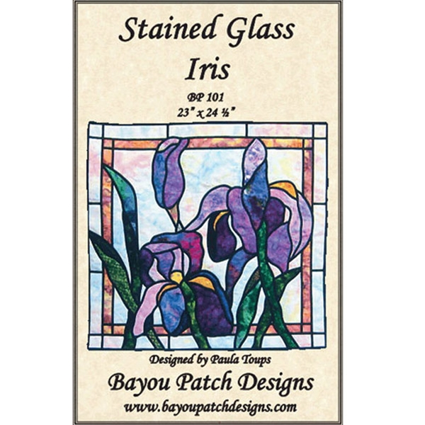 Stained Glass Iris Pattern By Bayou Patch Designs