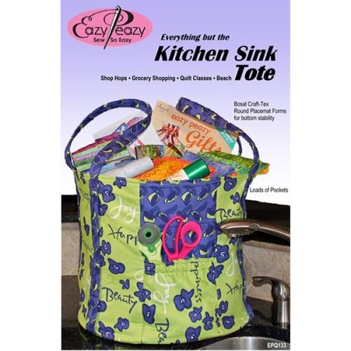 Everything But The Kitchen Sink Tote Quilt Pattern By Eazy Peazy Quilts