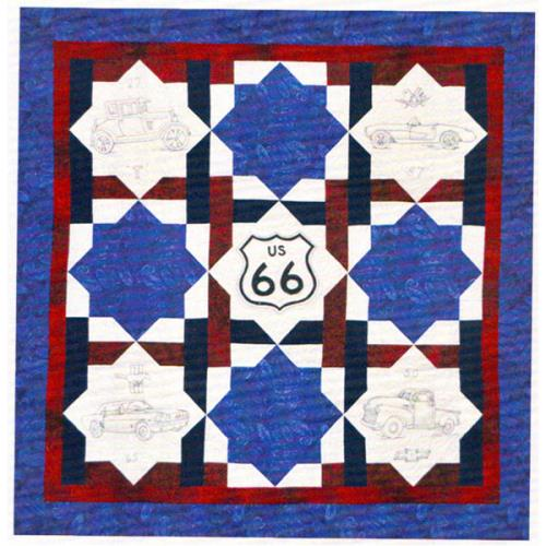 Get Your Kicks on Route 66 Quilt Pattern | Quilters Warehouses : route 66 quilt pattern - Adamdwight.com