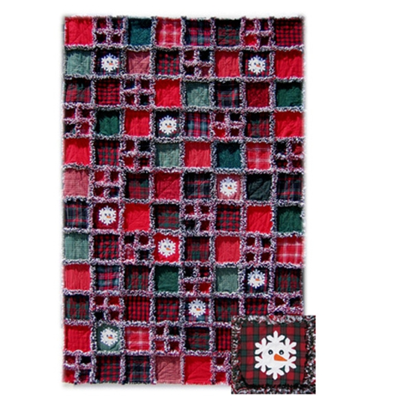 Flaky Snowmen Rag Quilt Pattern By Noble Needle Quilts