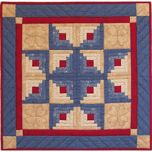 Log Cabin Star Pattern Quilters Warehouses