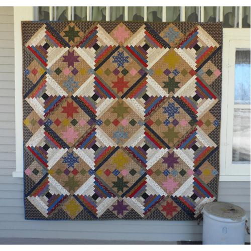 Twinkling Log Cabin Lap Quilt Pattern Quilters Warehouses