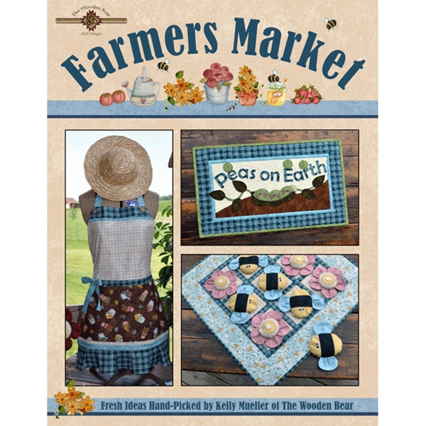Farmers Market Quilt Pattern Book By The Wooden Bear Flowers