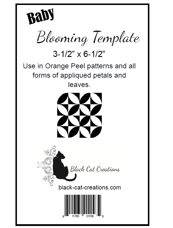 Baby Blooming Template By Black Cat Creations | Quilterswarehouse