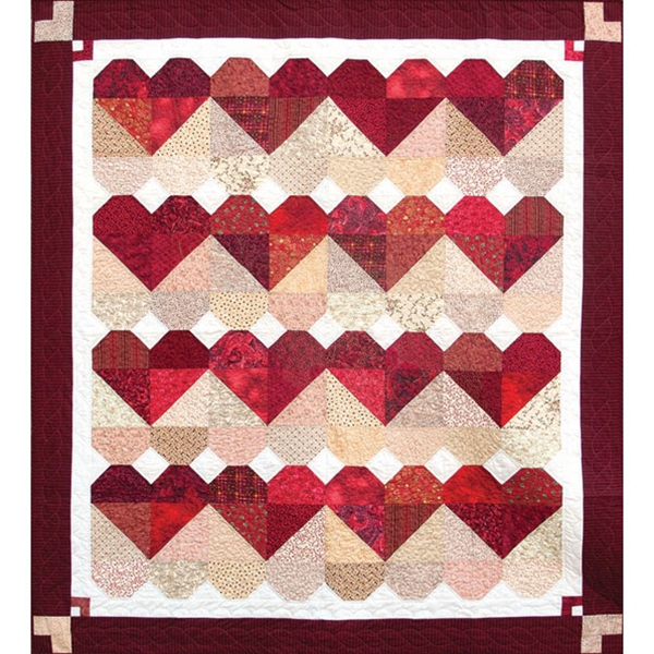 Blended Hearts Quilt Pattern By Black Cat Creations Pieced Best Heart Quilt Pattern