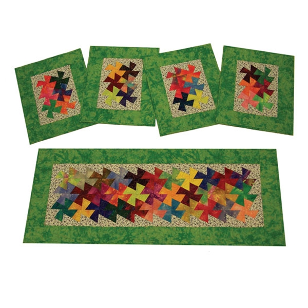 Quilt Patterns For Table Runners And Placemats : Twist It Table Runner and Placemats Quilt Pattern By Amy s Wagon Wheel Creations , Quilt ...