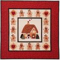A GINGERBREAD CHRISTMAS WALLHANGING QUILT PATTERN