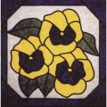 PANSIES STAINED GLASS PATTERN*