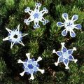 Coiled Fabric Snowflakes Pattern