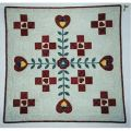 Nine of Hearts Wall Quilt Pattern
