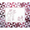 PLAYMATES QUILT-BLOCK 08 GIRLS WITH DOLLS