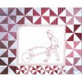 PLAYMATES QUILT-BLOCK 09 BOY WITH WHEELBARROW