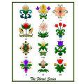 Floral Series 1 Applique Pattern
