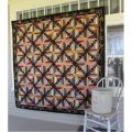Crisscross Cabin Blooms Lap Quilt Pattern