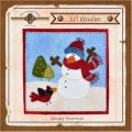 Li'l Woolies January Snowman Wool Wall Hanging Pattern