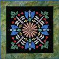 Blue Butterflies #2 Circle of Friends Series Applique Pattern