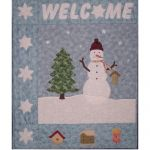SNOWMAN WELCOME WALLHANGING