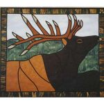 ELK STAINED GLASS PATTERN*