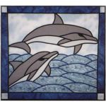DOLPHINS STAINED GLASS PATTERN*