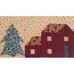 THOUGHTS OF CHRISTMAS-ROW 3 HOUSES & TREES