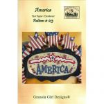 America Wool Tank Topper/Candlemat Quilt Pattern