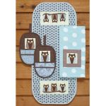 WHAT A HOOT! HOT PAD & RUNNER PATTERN