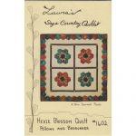 Hexie Blossom Pillow & Bedrunner Quilt Pattern