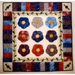 Double Hibiscus Wall Quilt Pattern