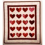 Heart After Heart Quilt Pattern w/Heart Template