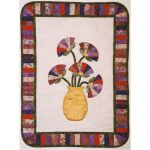 """""""Fan""""tastic Poppies Wall Hanging Quilt Pattern"""