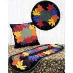 FALL LEAVES WOOL APPLIQUE