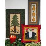 American Folk Art Tree-Pig-Pear Pattern