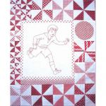 PLAYMATES QUILT-BLOCK 02 BOY RUNNING