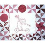 PLAYMATES QUILT-BLOCK 10 GIRL ON SCOOTER