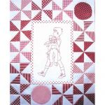 PLAYMATES QUILT-BLOCK 05 BOY WITH DOLLS