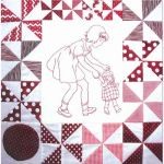 PLAYMATES QUILT-BLOCK 01 GIRL WALKING DOLL
