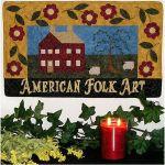 American Folk Art House- Flowers & Folk Art Banner  Pattern