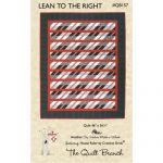 Lean To The Right Quilt Pattern