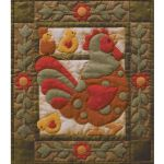 Spotty Rooster Wall Quilt Pattern