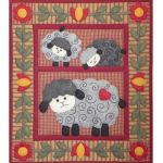 Twin Lambs Wall Quilt Pattern