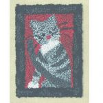 SMALL CAT PUNCHNEEDLE  COMPLETE KIT