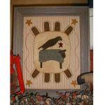 SHEEP & CROW  PENNYRUG PATTERN