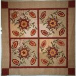 COTTAGE ROSE & POMEGRANATES QUILT QUILT PATTERN