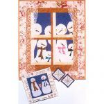 SNOWMEN PEEKING WALL HANGING QUILT PATTERN