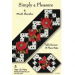 SIMPLY A PLEASURE TABLE RUNNER AND PLACEMATS QUILT PATTERN