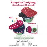 Lucy the Ladybug Pincushion with Storage Quilt Pattern