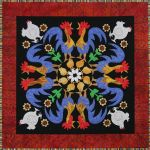 Rowdy Roosters #9 Circle Of Friends Series Quilt Pattern