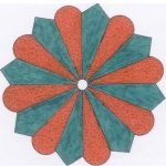 TREE SKIRT OR TABLECLOTH WITH 16 PANELS QUILT PATTERN*