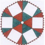 """TABLECLOTH/TREE SKIRT WITH 6 PANEL-12""""  QUILT PATTERN*"""